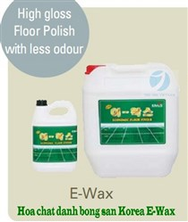 High gloss Floor Polish with less odour – E WAX